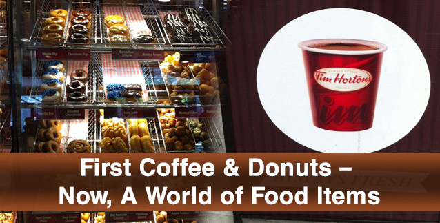 First Coffee & Donuts – Now, A World of Food Items